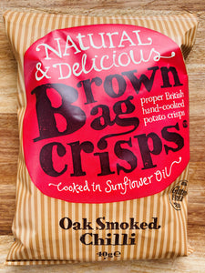 Brown bag oak smoked chilli crisps