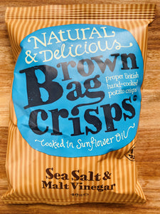 Brown bag salt & vinegar crisps