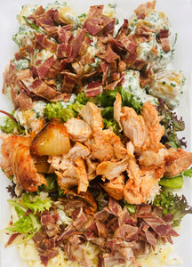 Classic potato with meats & krautsalat platter