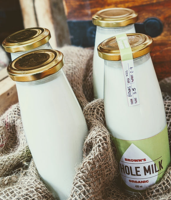 Monthly Organic Milk Subscription - 1680 mL Delivered ONCE each Week, Paid Monthly