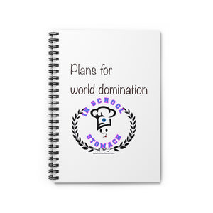 Plans for World Domination notebook