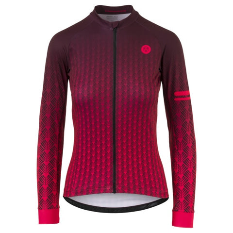 AGU JERSEY LS ART DECO WMN RED