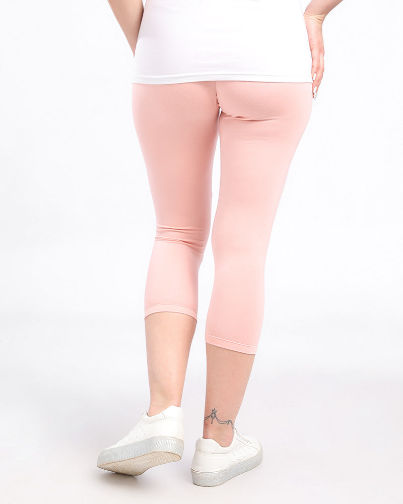 BASIC MODAL LEGGINGS WITH AN ELASTIC WAIST FOR EXTRA COMFORT (BELOW KNEE LENGTH)