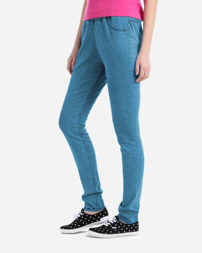 BASIC JEANS LEGGINGS MADE FROM FINE COTTON AND ELASTIN WITH AN ELASTIC WAIST FOR EXTRA COMFORT