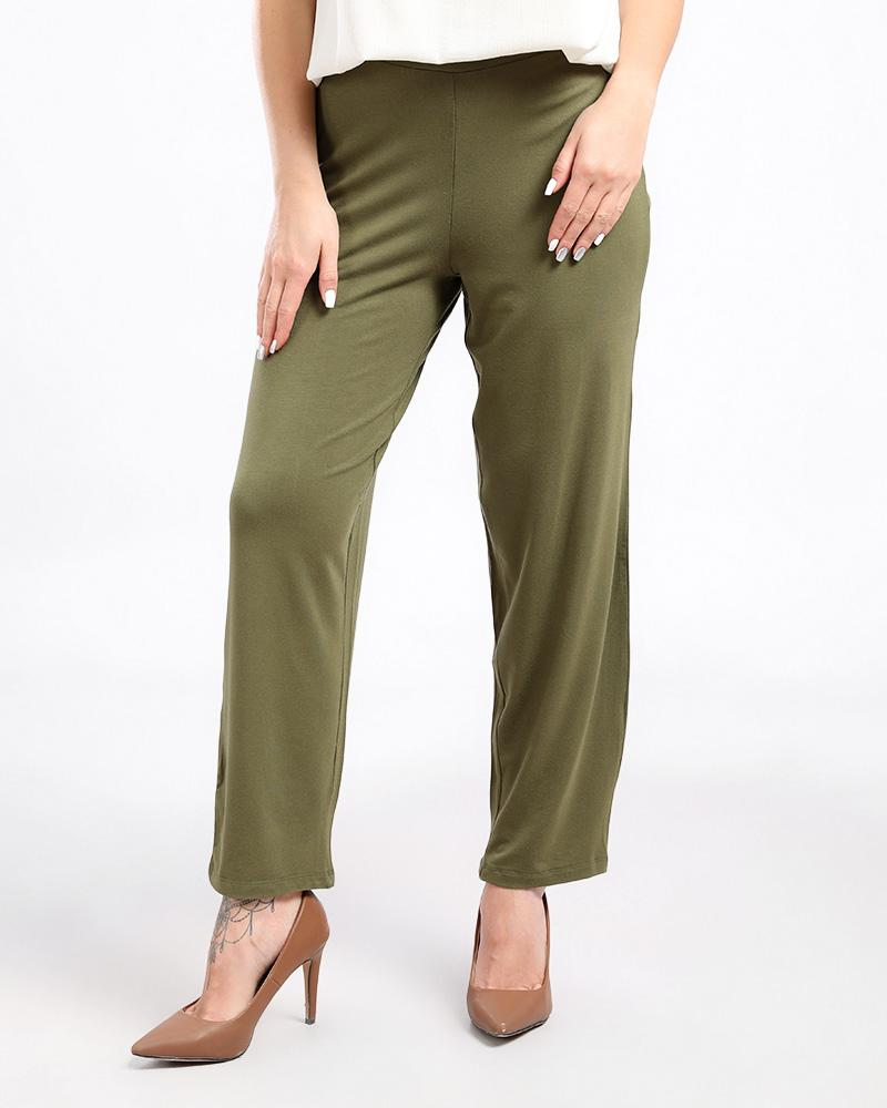 BASIC LOOSE FIT PANTS WITH A WAIST BAND FOR EXTREME COMFORT.
