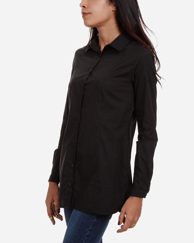 BASIC COTTON POPLIN SHIRT