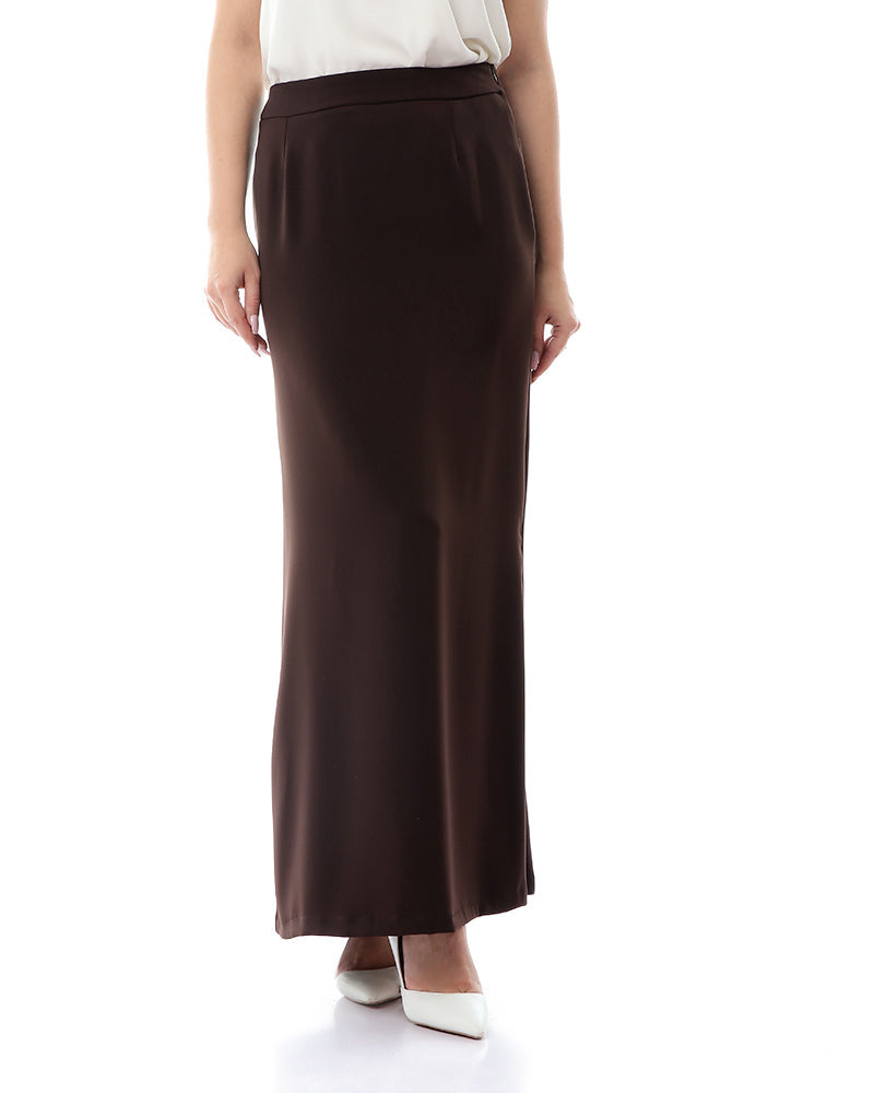 BASIC CREPE SKIRT WITH ELASTIC WAIST FOR EXTRA COMFORT
