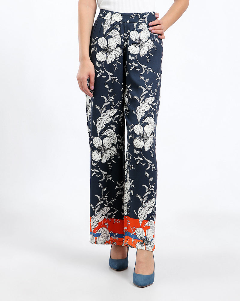 LIMITED EDITION: RAYON PRINTED PANTS WITH ELASTIC WAIST FOR EXTRA COMFORT