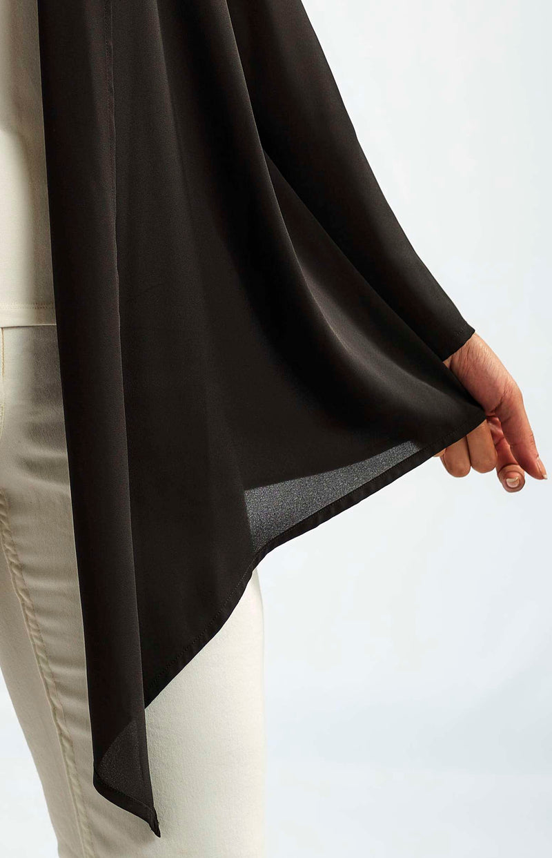 MODAL BASIC JACKET WITH A FLOWY LAYER OF SOFT AND SILKY CHIFFON