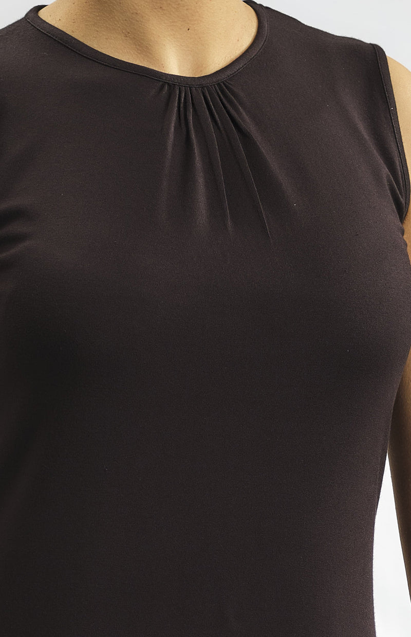 100% NATURAL MODAL TOP WITH SMALL PLEATS