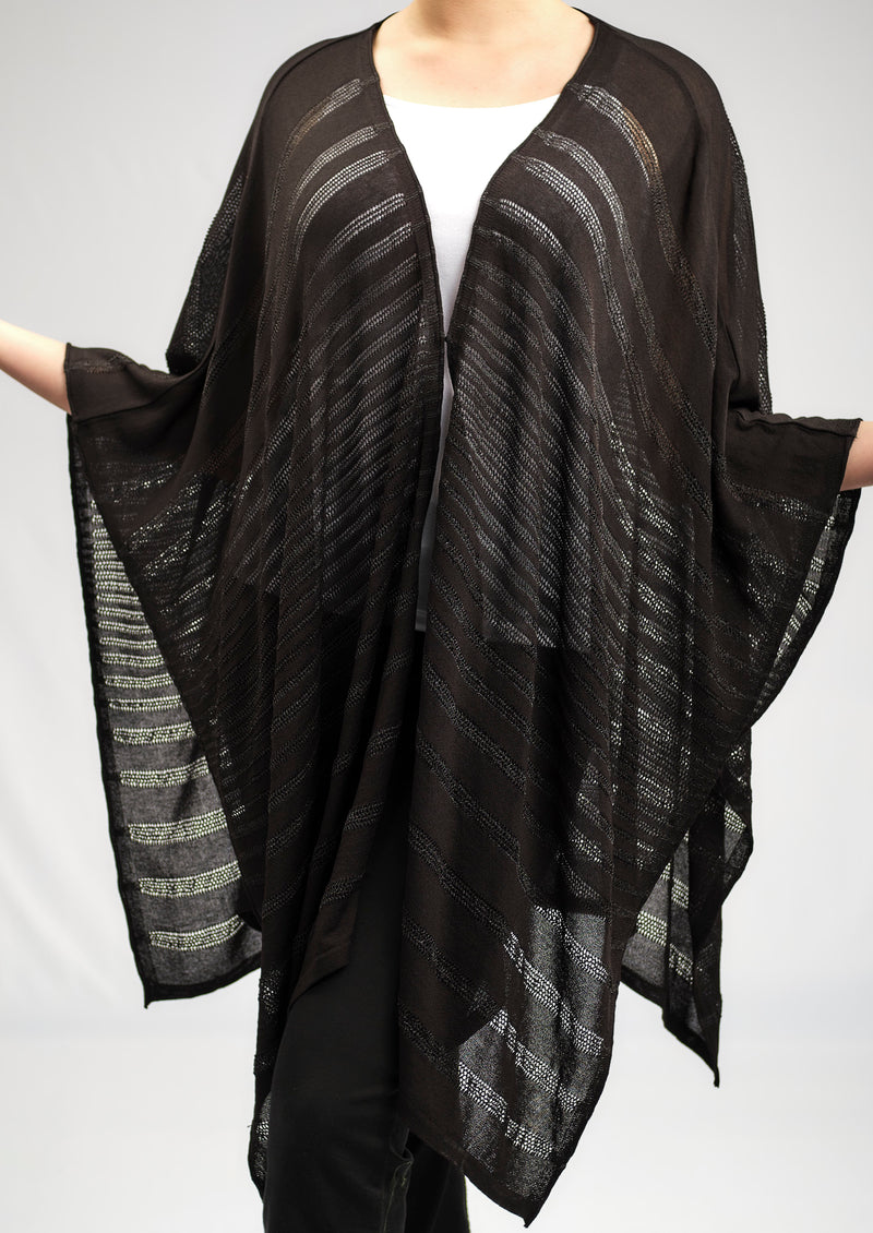 ONE SIZE BASIC AJOUR PONCHO IN A GORGEOUS KNITWEAR PATTERN