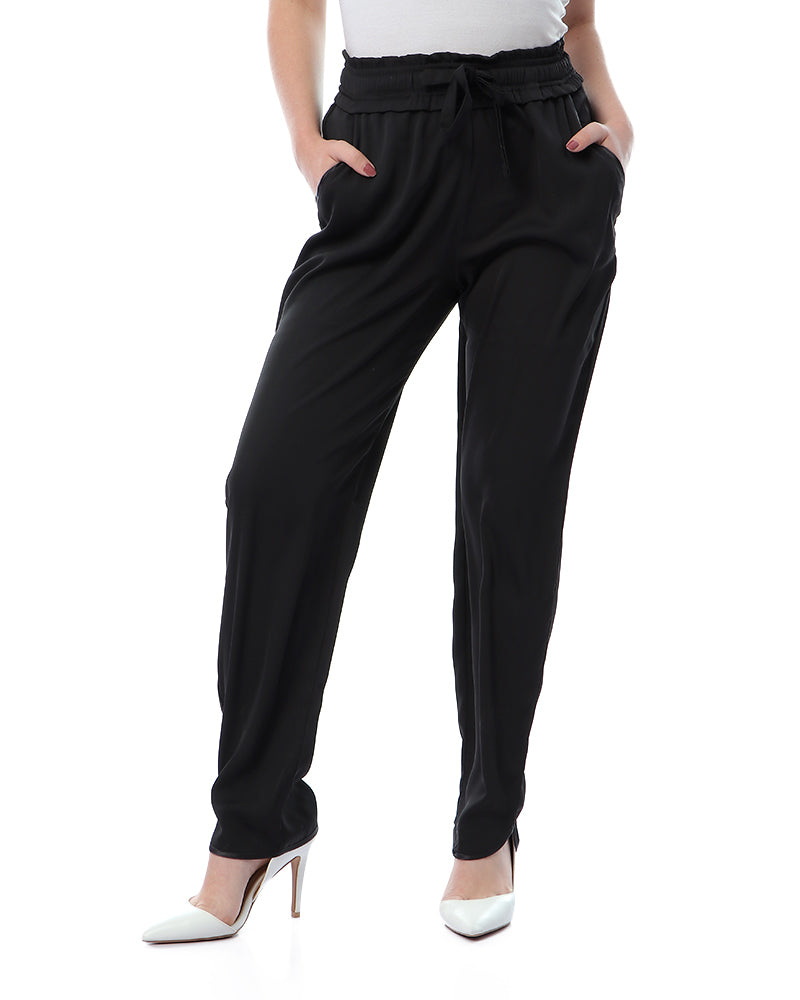 SILK FEEL BASIC PANTS WITH ELASTIC WAIST FOR EXTRA COMFORT