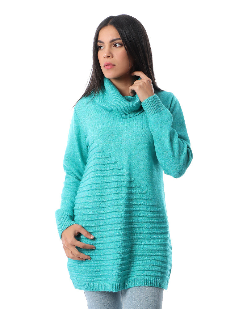 KNITWEAR SKY BLUE BLOUSE - MADE FROM EXTRA SOFT MOHAIR YARN