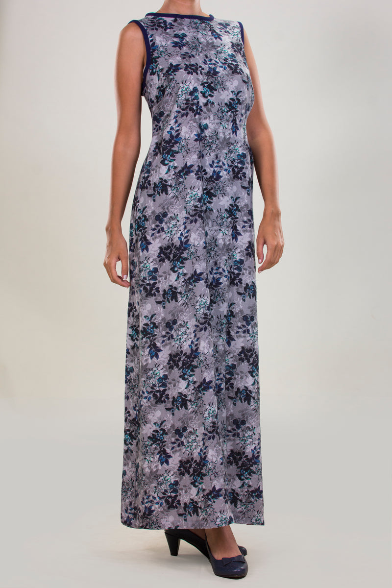 LINEN PRINTED DRESS IN A ROMANTIC FLORAL PATTERN