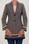 LIMITED EDITION: SILKY CREPE JACKET WITH A GEOETRIC PATTERN