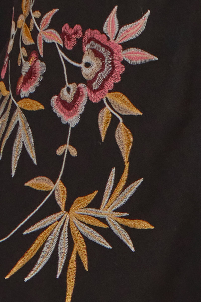 100% NATURAL VISCOSE JACKET WITH EMBROIDERY ON THE FRONT INSPIRED BY CHINESE ART