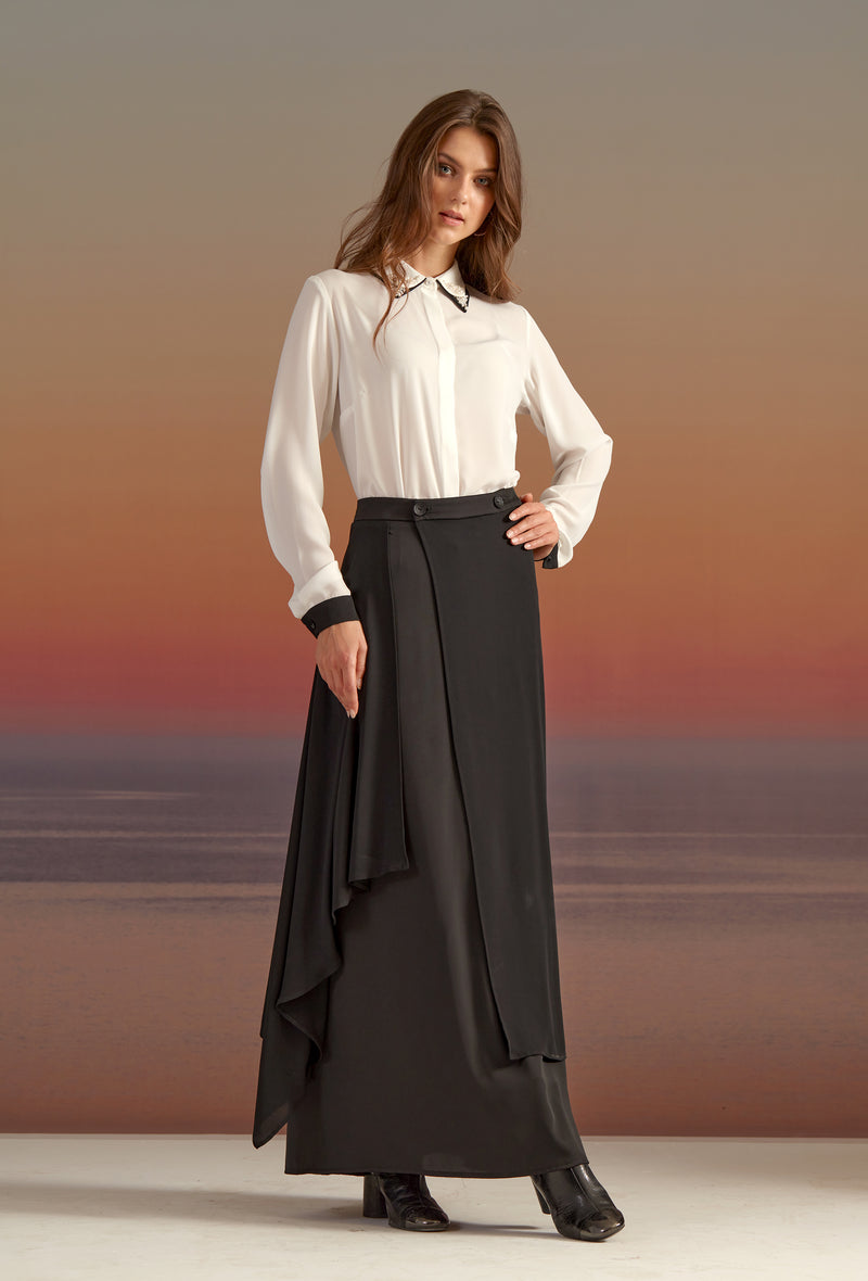 LIMITED EDITION: SILKY CREPE CHIFFON SKIRT