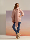 VERY SOFT KNITWEAR BLOUSE IN PRINCESS PINK