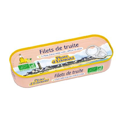 FILETS TRUITE H.OLIVE CITRON BIO 130G
