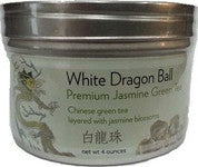 White Dragon Ball - Premium Jasmine Green Tea (Loose Tea Leaves rolled into Balls)