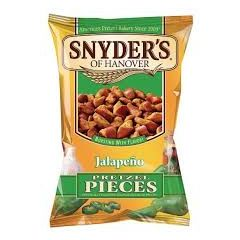 Snyders Jalapeno Pretzel Pieces 125g - First Class Learning Bradford