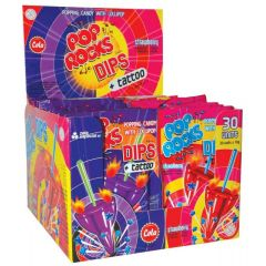 Pop Rocks Popping Candy & Lollipop Dips 18g - First Class Learning Bradford