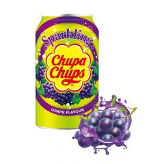 Chupa Chups Sparkling Grape Flavour Soft Drink Cans 345ml - First Class Learning Bradford