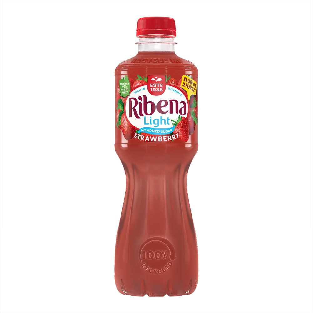 Ribena Strawberry 500ml £1.09 or 2 for £2 PMP