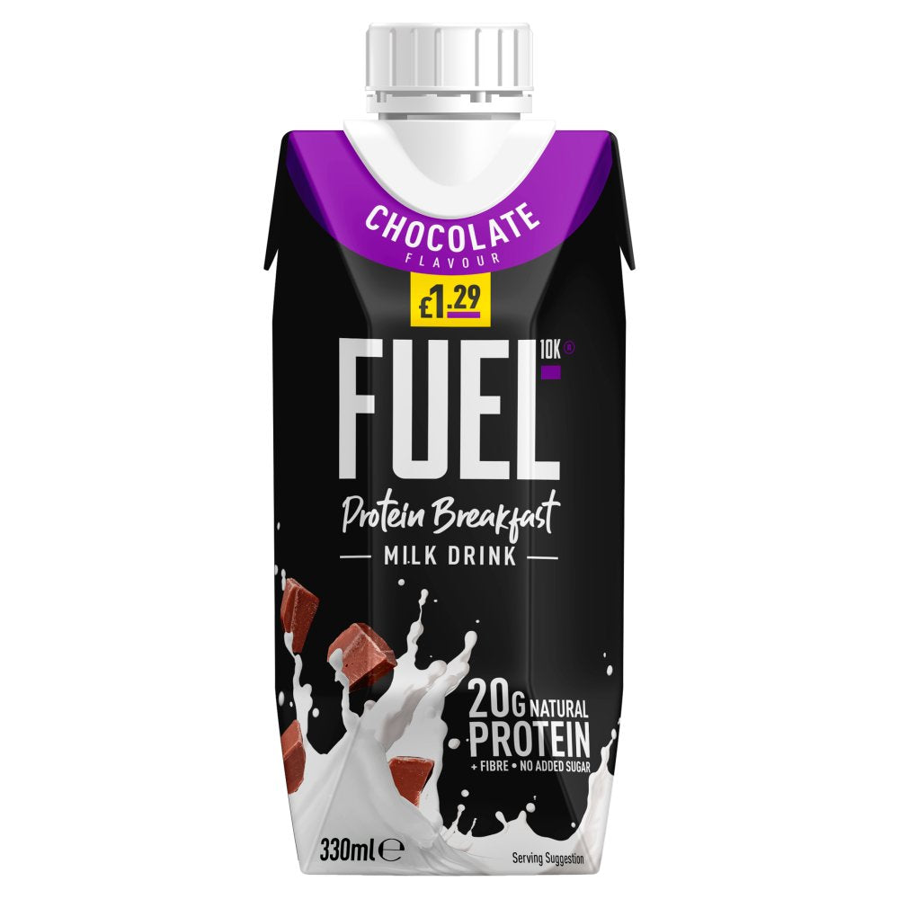 FUEL10K High Protein Chocolate Breakfast Drink 330ml £1.29 PMP