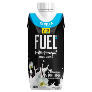 FUEL10K High Protein Vanilla Breakfast Milk Drink 330ml £1.29 PMP