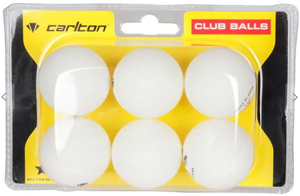 Carlton Club Table Tennis Balls 6 Pack