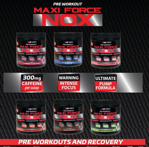 Maxi Force Nox Pre-workout Powder 30 servings 210g