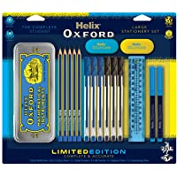 Helix Oxford Clash Stationery Set - Blue (Includes Maths Set, Pens, Pencils, Folding Ruler and Erasers) - First Class Learning Bradford