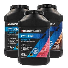 Maximuscle Cyclone Protein Powder 3 x 1.26kg Tubs