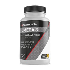 Maximuscle Omega-3 Fish Oil EPA and DHA Supplement Soft Gels 120 Pack