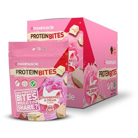 Maximuscle Protein Bites 6 x 110g Millionaires Shortbread, Cookies and Cream, Strawberries and Cream