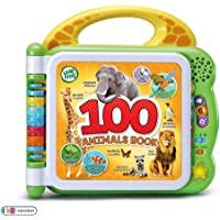 LeapFrog 100 Animals Book, Baby Book with Sounds and Colours for Sensory Play, Educational Toy for Kids, Preschool Toys, Bilingual Learning Games for Boys and Girls Aged 18 Months, 1, 2, 3 Years - First Class Learning Bradford