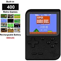 Fiotasy Handheld Retro Games Consoles with 400 NES FC Games, Portable 2.8 Inch Gameboy with 800mAh Rechargeable Battery, TV AV Video Output for Kids Men Women, Ideal Christmas or Birthday Gift - First Class Learning Bradford