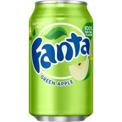 Fanta Green Apple Soda Cans 355ml - First Class Learning Bradford