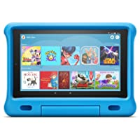 "Fire HD 10 Kids Edition Tablet | 10.1"" 1080p Full HD Display, 32 GB, Blue Kid-Proof Case - First Class Learning Bradford"