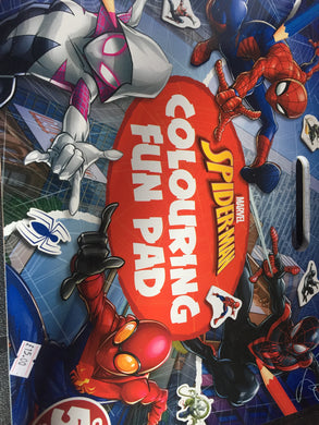 Spider man colouring pad with stickers - First Class Learning Bradford
