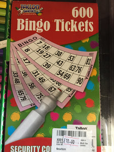 Bingo tickets - First Class Learning Bradford