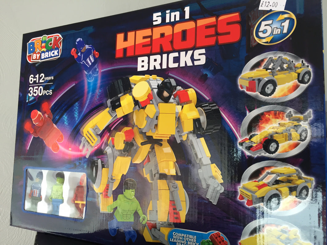 Heroes bricks game - First Class Learning Bradford