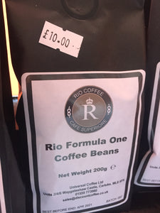 Rio Formula One Coffee Beans 200g - First Class Learning Bradford