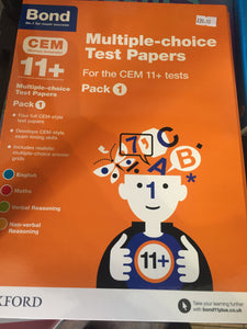 Bond 11 plus CEM pack 1 - First Class Learning Bradford