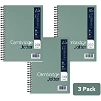 Cambridge Jotter, A5 Notebook, Wirebound, Lined, 200 Page, Pack of 3 - First Class Learning Bradford