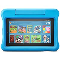 "Fire 7 Kids Edition Tablet | 7"" Display, 16 GB, Blue Kid-Proof Case - First Class Learning Bradford"
