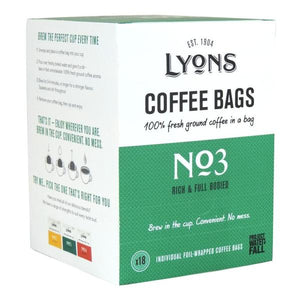 Lyons No 3 Coffee Bags (18 x 7g ) - First Class Learning Bradford
