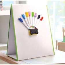 Tabletop Magic Magnetic Whiteboard Easel, A3 with 8 pens & eraser - First Class Learning Bradford