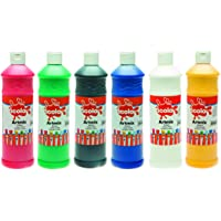 Scola Artmix 6 x 600 ml Paint, colored (Assorted) - First Class Learning Bradford